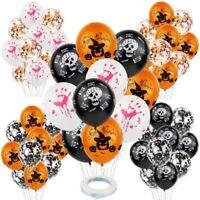 10pcs 12'' Halloween Skull Balloon Ghost Confetti Latex Balloons Bar Party Decor