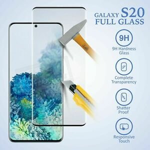 For Samsung Galaxy S10e S20 Plus Tempered Glass Screen Protector Film Black