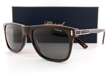 New Chopard Sunglasses SCH 219 G62P Dark Horn/Grey Polarized  For Men