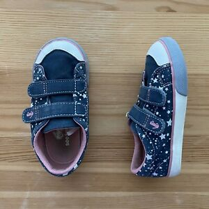 SEE KAI RUN Blue Star Sneakers Shoes Size 9 Toddler