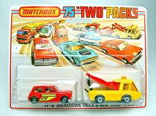 "MATCHBOX Twopack 6b GIALLO toe Joe & Mini ""Breakdown Set"""
