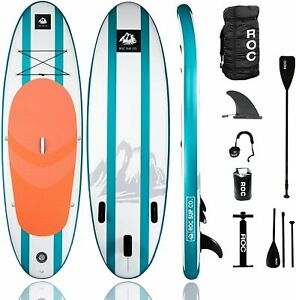 Roc Inflatable Stand Up Paddle Board with Premium sup Accessories & Backpack