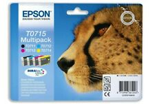 Epson T0715 Full Set Ink Cartridge Genuine Original Multipack B C M Y Cheetah .