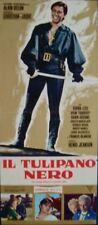 La TULIPE NOIRE BLACK TULIP Italian locandina movie poster ALAIN DELON 1964