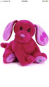 "Webkinz GANZ 8"" CHERRY SODA PUP Plush Stuffed Puppy Dog HM414 Retired No Code"