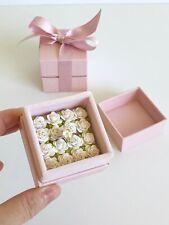 Bed of White Roses Velvet Engagement Wedding Ring Gift Box