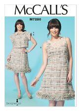 McCalls Sewing Pattern M7280 7280 Misses 8-16 Ruffle Hem Dress and Short Jacket