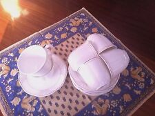 VILLEROY & BOCH ARCO GOLD BONE CHINA 6 COFFEE CUPS & SOUSES