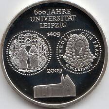10 Euro Gedenkmünze 600 J. Universität Leipzig 2009 Polierte Platte Silber 925/-