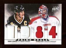 2012-13 Panini Prime MARIO LEMIEUX / PATRICK ROY /100 4-Jersey Hockey Card