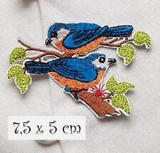 ACD85 20 x 28 cm Oiseaux Phoenix Rose Vert APPLIQUE DENTELLE SYMÉTRIQUE