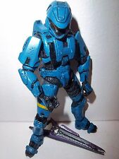 Halo 3 Series 3 **Walmart Exclusive Blue Scout Spartan** Complete w/ Beam Rifle