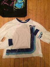 Woman's Long Sleeve Shirt Pong Video Game Logo Large