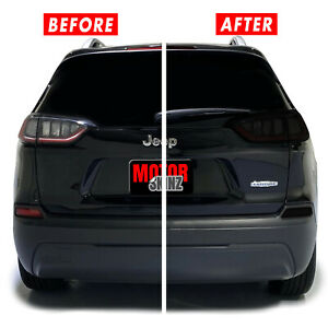 FOR 19-21 Jeep Cherokee Tail Light, Reflector, 3rd Brake Light SMOKE Tint