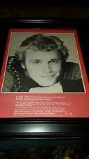 John Schneider White Christmas Rare Original Promo Poster Ad Framed!