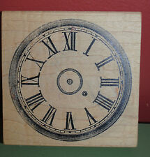 Clock Face Stamp Invitation Vintage  Wood & Foam Backed Rubber Stamp NEW