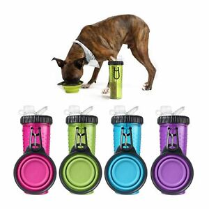 Dexas Pop Up Travel Portable Food Snack Water Container & Bowl for Pet Dog Puppy