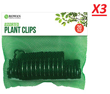 60X Rose Stalks Mini Plastic Stem Clips Garden Tools Flower Orchid Plant Support
