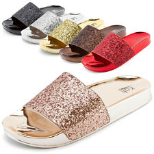 02da010e410 Glitter Block Low (3/4 to 1 1/2 in) Heel Height Sandals for Women ...