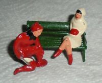 "VINTAGE LEAD BARCLAY ""Man Putting Skates on Girl"" B200 Near Mint Cond F/S  Lot E"