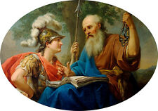 Bacciarelli Alcibiades Being Taught by Socrates 7x5 Inch Print 84