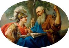 Bacciarelli Alcibiades ser enseñada por Sócrates 7x5 pulgadas impresión 84