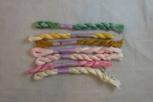 Needle Necessities Pearl 5 Overdyed Cotton Assorted Colors Lot of 7   NEW   F136