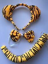 Hot Kids Animal Zebra Tail /& Ear Headband /& Bow Tie 3Pcs Party Bunny Leopard MT