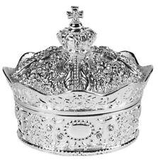 Silver Crown Box with Arras Coins Set (WC615) ARRAS DE BODA 13 Coins NEW