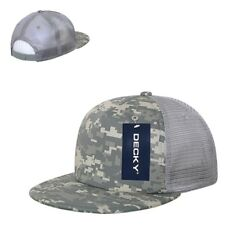 ACU Camo US Army Camouflage Flat Bill 5 Panel Military Trucker Baseball Cap Hat
