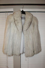 Beautiful Vintage SAGA FOX Blue Fox Stroller Fur Jacket Coat Sz Medium Excellent
