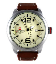 Superb MILITARY 48mm Army Navy Pilot's Aviators Sport Date Quartz Steel Watch TW