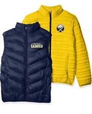 NHL Buffalo Sabres Mens 3 in 1 Systems Jacket Embroidered Logo Gold Navy Large