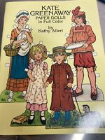 NEW 1981 Kate Greenaway Paper Dolls By Kathy Allert, EXCELLENT CONDITION