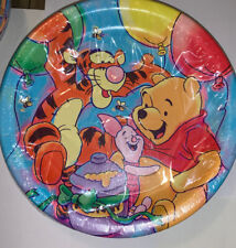 Vintage Party Supplies Pooh's Party Pals Large Birthday Plates 8 Ct