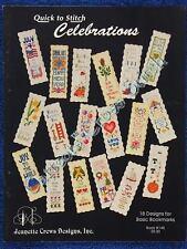 Cross Stitch Pattern Quick Bookmarks Celebrations 18