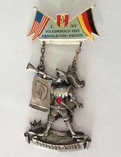 Fanfaren Ritter Volksmarsch 1983 Germany Knights LARGE Medal Badge Rare (N10)