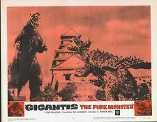 GODZILLA RAIDS AGAIN/GIGANTIS THE FIRE MONSTER orig 1959 lobby card poster #1