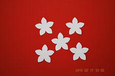 5 Stück Blume weiß Samt Flock Applikation zum aufbügeln Flicken Aufnäher Patch