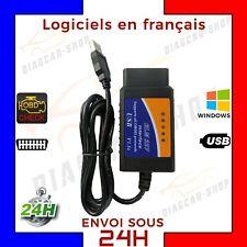 ELM 327 OBD 2 Avec Cable USB Interface de diagnostique OBD II pour PC + logiciel