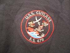 United States US Navy USS Cutlass S.S. 478 Tench Class Submarine Polo Shirt XL