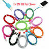 1M/2M/3M Strong Braided USB Data Sync Charger Cable Lead iPhone 5 5C 5S 6 6 Plus
