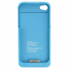 Blue Battery Charger Case For iPhone 4 4S Backup 1 Year Warranty Protection