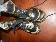 Women Size 10 Camouflage Camo Rain Boots, Pre Owned, Good Condition