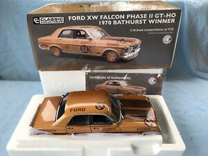 1:18 Ford XW Falcon Phase ll GTHO 1970 Bathurst Moffat Gold 50th Anniversary