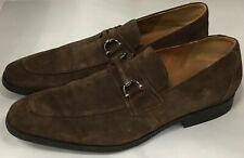 Clarks 26136234 Gilman Bit Dark Brown Suede Men's Loafers Shoes Size 11.5 US