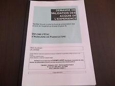LIVRET 2 VAE AUXILIAIRE DE PUERICULTURE -LES 8 MODULE+LIVRET VIERGE*ENVOI RAPIDE