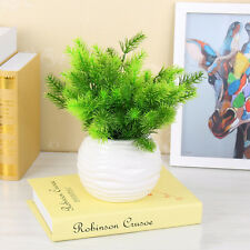 1pc Plastic Fake Green Mini Pine Tree Artificial Plant Tree Decor Home Office WB