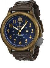 New Mens Invicta 20538 Russian Diver Quartz Bronze Case Brown Leather Watch