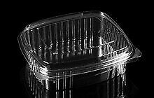 Disposable Food Containers, Clear w/connected lid 10/25/50 Pack